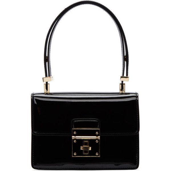 Dolce & Gabbana Black Mini Flap Lock Bag ($1,325) ❤ liked on Polyvore featuring bags, handbags, black, flap handbags, mini purse, patent leather purse, patent leather handbags and dolce gabbana bags