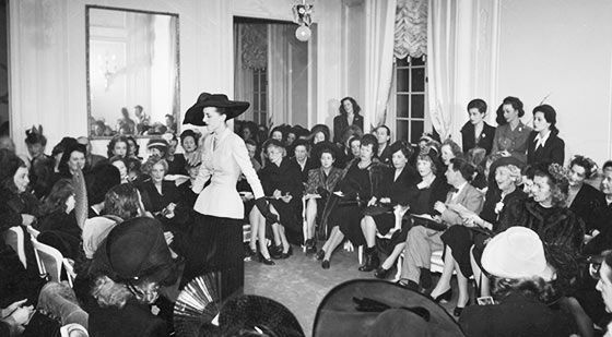 Christian Dior's new look of 1947 was an international revolution that changed the look of a woman's silhouette in fashion forever.