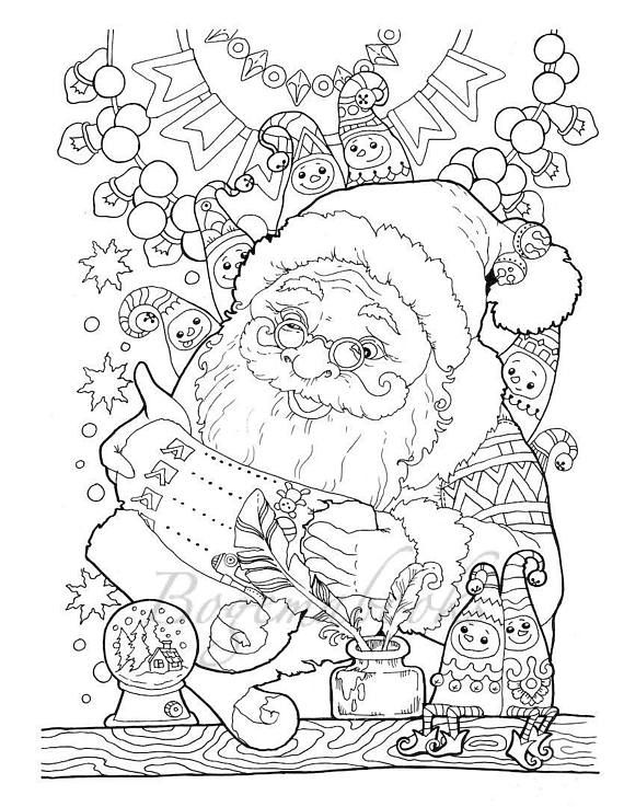 Nice Little Town Christmas Adult Coloring Book Printable | coloring ...