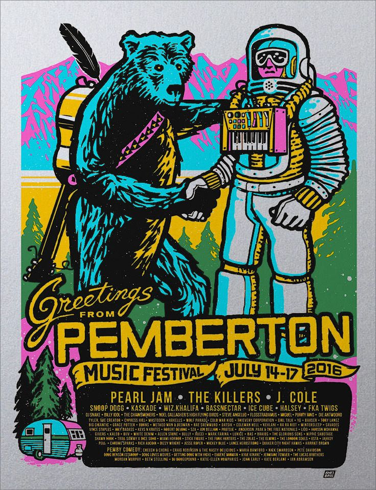 Ames Bros Pemberton Music Festival Poster Release