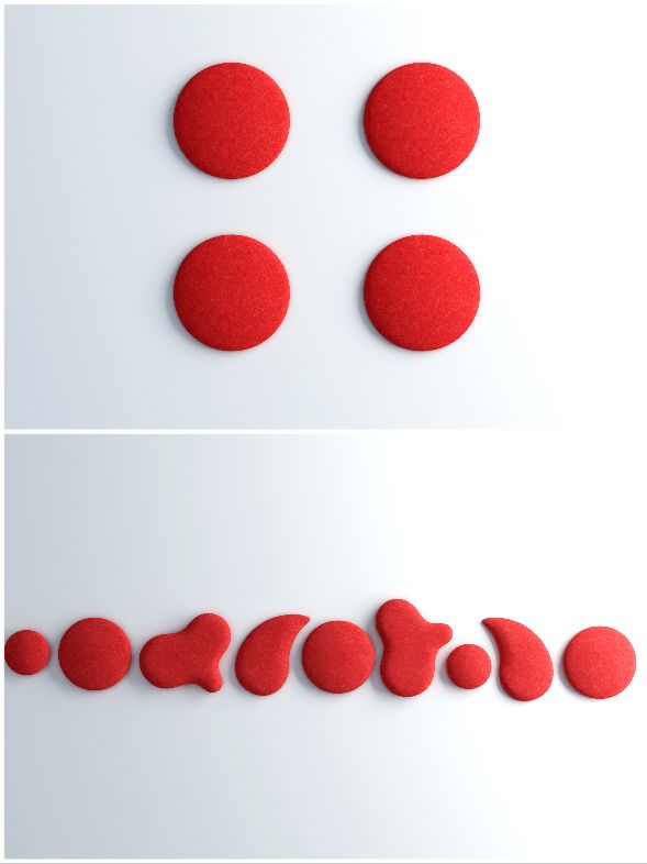 Red Acoustic Woolbubbles by Wobedo. #AcousticsWIthDesign #Noise #AcousticPanels #Quieter