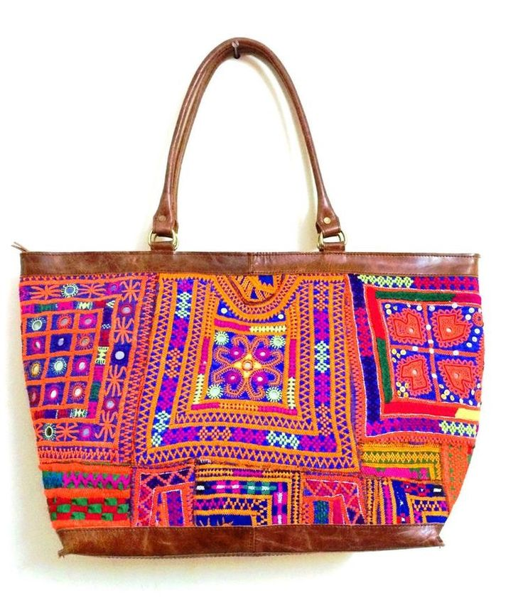 indian embroidery tote bags
