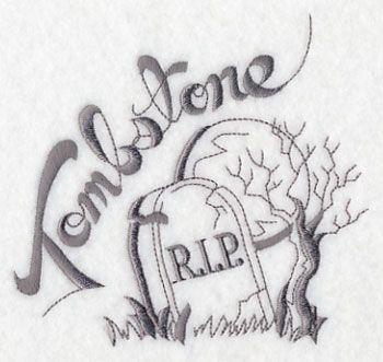 Creepy Halloween Tombstone design (K3412) from www.Emblibrary.com
