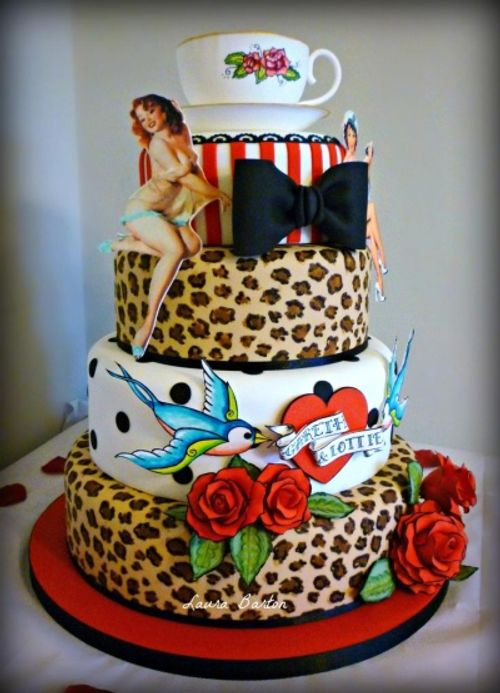 Rockabilly wedding cake