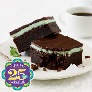 Chocolate-Mint Bars ~ You'll love these Chocolate-Mint Bars if you're a big fan of the thin chocolate-mint Girl Scout cookies or Andes candies.