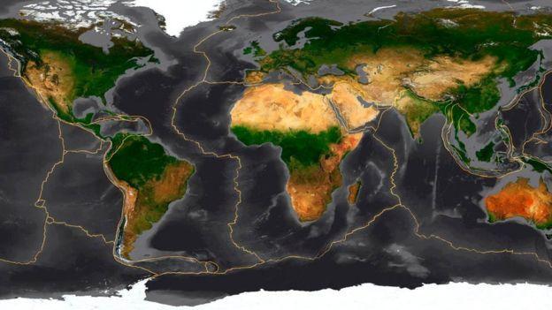 Dlaczego płyty tektoniczne i ich ruchy są niezbędne do życia - Mapa pokazująca płyt tektonicznych na Ziemi