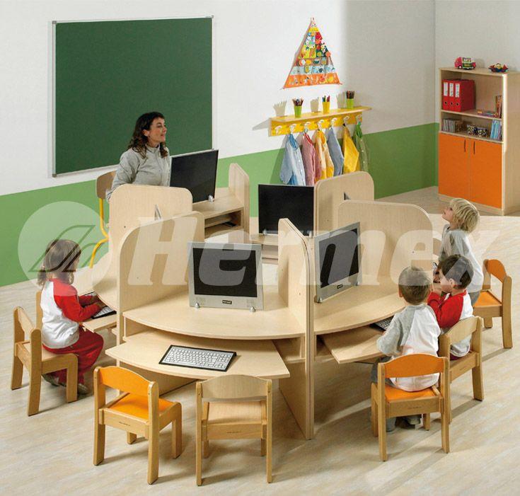 Mesas para aulas de informática infantil