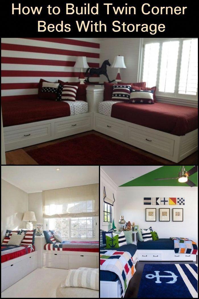 Furniturepick Corner Twin Beds Bed In Corner Kids Twin Bed