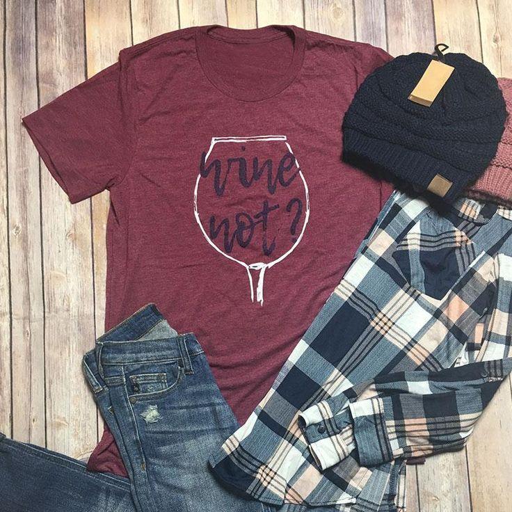 Women's Wine Not Shirt – Wine O'Clock Somewhere #wine#shirt #moms #Christmas #Gift #accessories