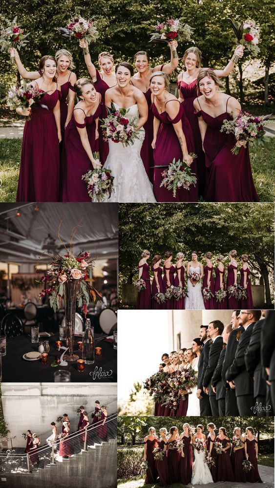 A-Line Spaghetti Straps Cold Shoulder Long Burgundy Bridesmaid Dress