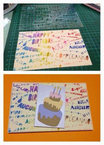 Stencil Auguri di Buon Compleanno. Free File Silhouette Cameo