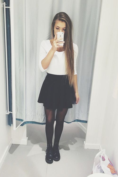 25 Best Ideas About Black Skater Skirt Outfit On Pinterest Skater Skirt Outfits Skater Skirt
