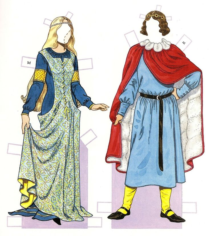 Medieval Costumes (1200-1350) | Gabi's Paper Dolls