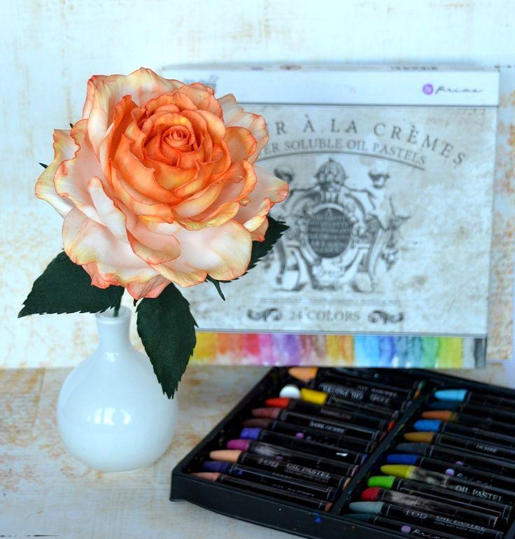Róża z foamiranu. Foamiran rose.