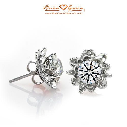 Fiore Earring Jackets 14k White Gold Accessories Diamond Studsdiamond