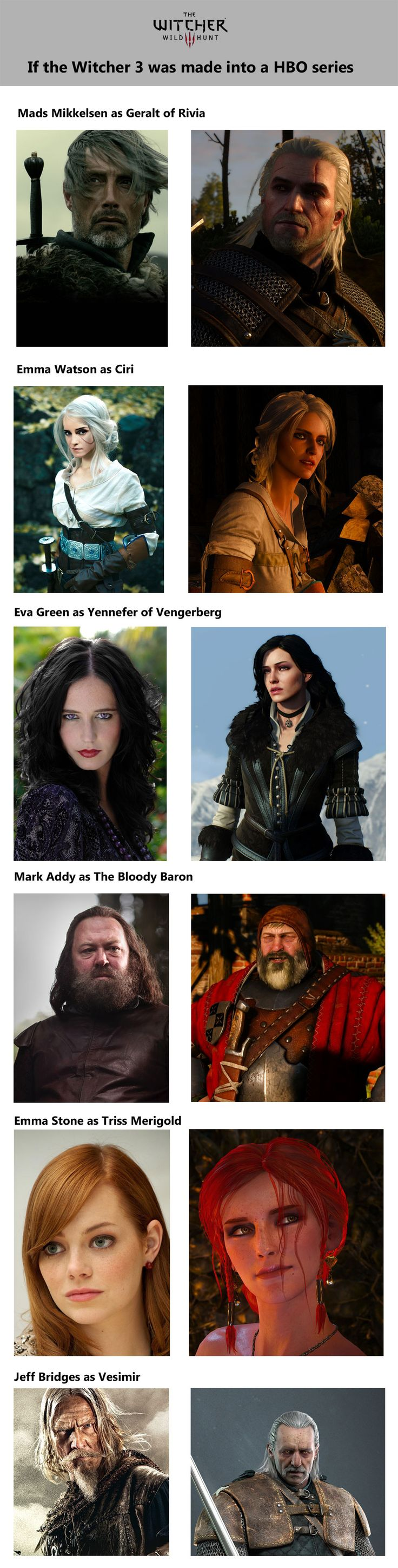 If the Witcher game series was turned into a HBO series or movie