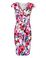 Floral dress, flattering shape