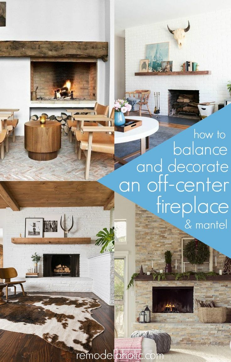 Learn how to balance and decorate an off-center fireplace & mantel. | Real Life Rooms: A Brick Fireplace Facelift
