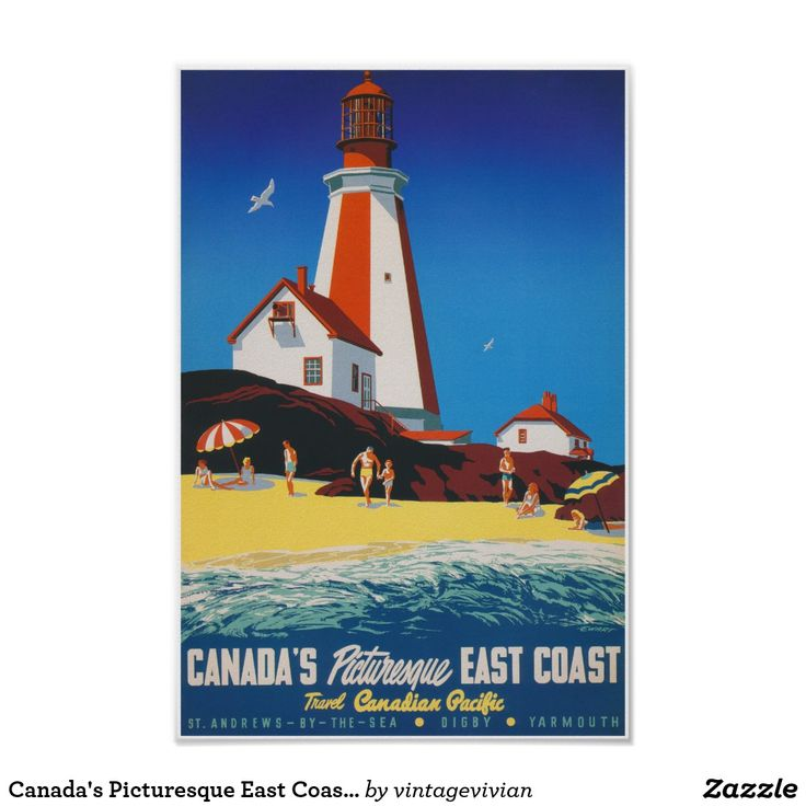 Canada's Picturesque East Coast Vintage Travel Poster