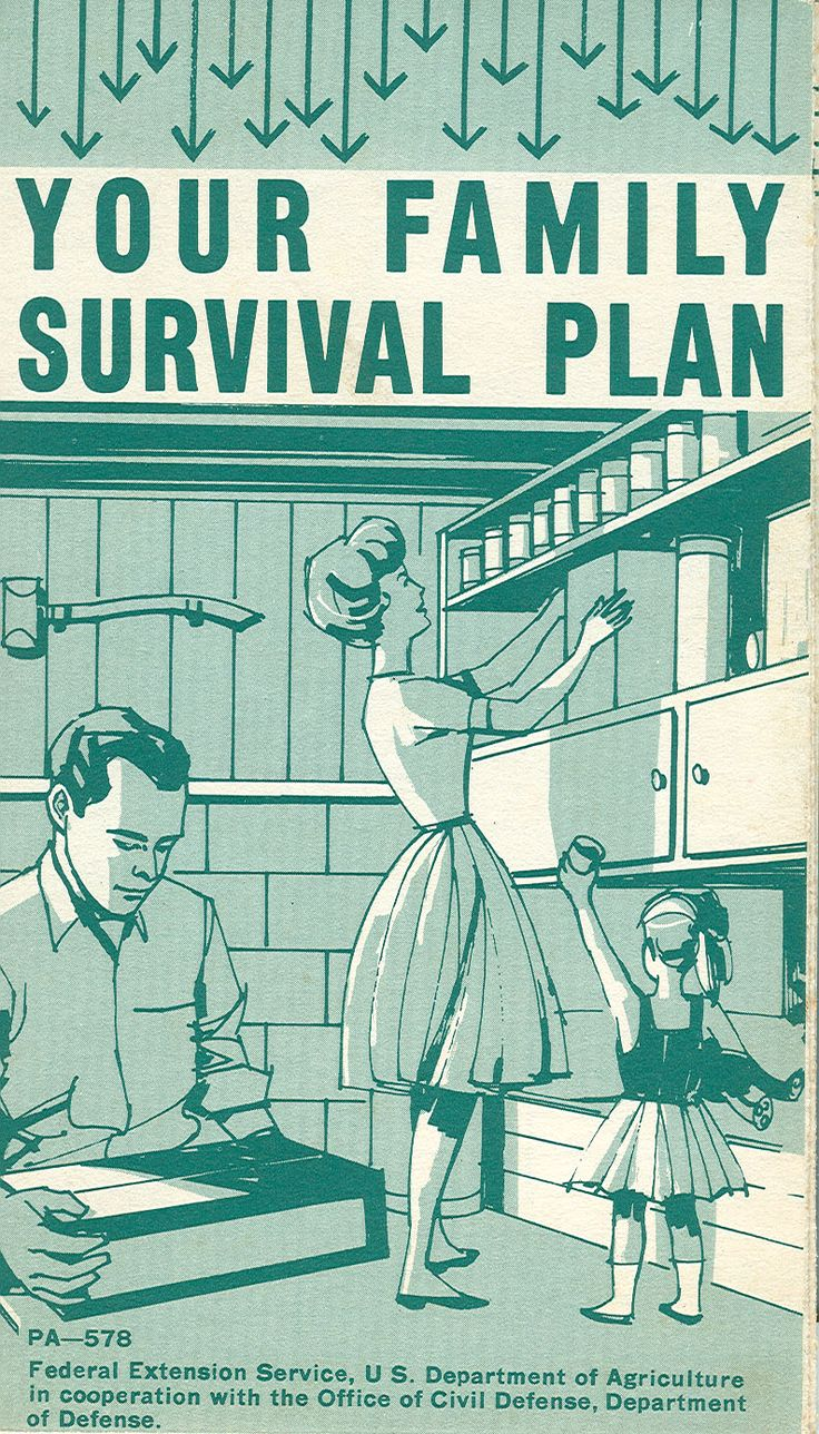 Your Family Survival Plan, 1963  Cold War Bomb Shelter Chilling Reminder  Of Yet