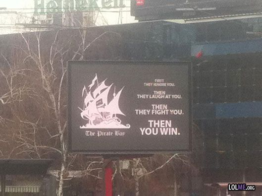Hacked Billboard - Support for The Pirate bay