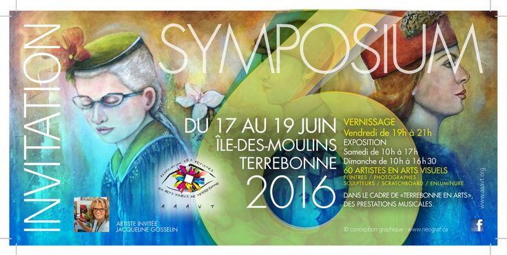 Invitation au #symposium de l'@aaavt du 17 au 19 juin #vernissage vendredi 19h à 21h #AAAVT http://aaavt.org/