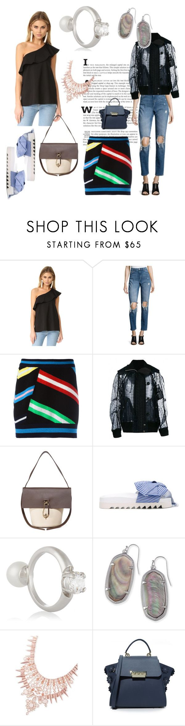 """""""your Your Style"""" by denisee-denisee ❤ liked on Polyvore featuring Susana Monaco, Cheap Monday, Barrie, Sacai, ZAC Zac Posen, Joshua's, Maison Margiela and Kendra Scott"""