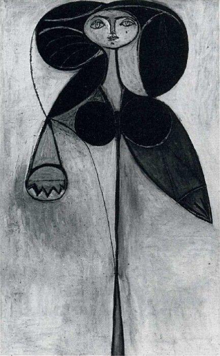 1946, La femme-fleur (Francoise Gilot). Pablo Picasso (1881-1973) Period of creation: 1943-1961