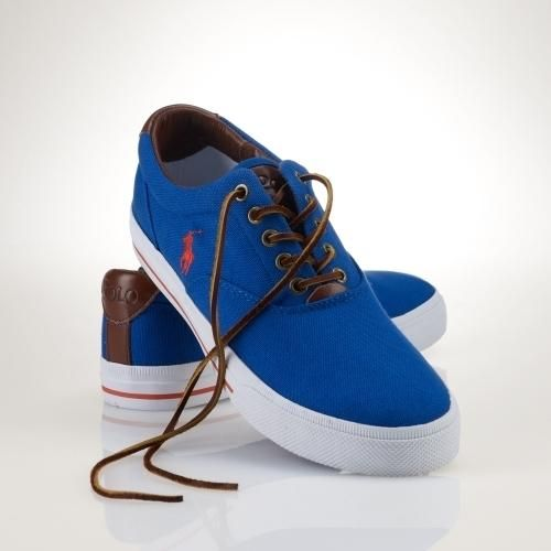 Crafted from classic cotton canvas, this casual sneaker features our signature pony and a sporty striped detail. Two-toned laces with metal grommets. Leather patch with debossed Polo... More Details