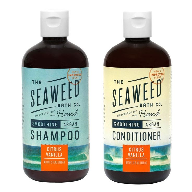 Seaweed Bath Company Smoothing Citrus All Natural Shampoo and Conditioner Bundle With Organic Bladderwrack Seaweed, Aloe Vera, Argan Oil and Vitamin E, 12 fl. oz. each -- Want to know more, click on the image.
