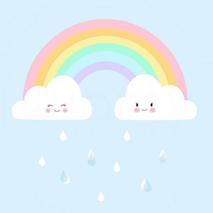 Pôster Arco-Íris já disponível no site, tamanhos A4 e A3, com ou sem personalização, rosa e azul!  #poster #arcoiris #rainbow