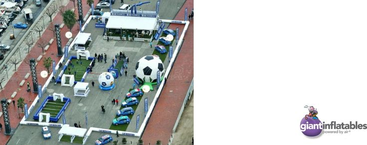inflatable soccer festival multi football activity arena