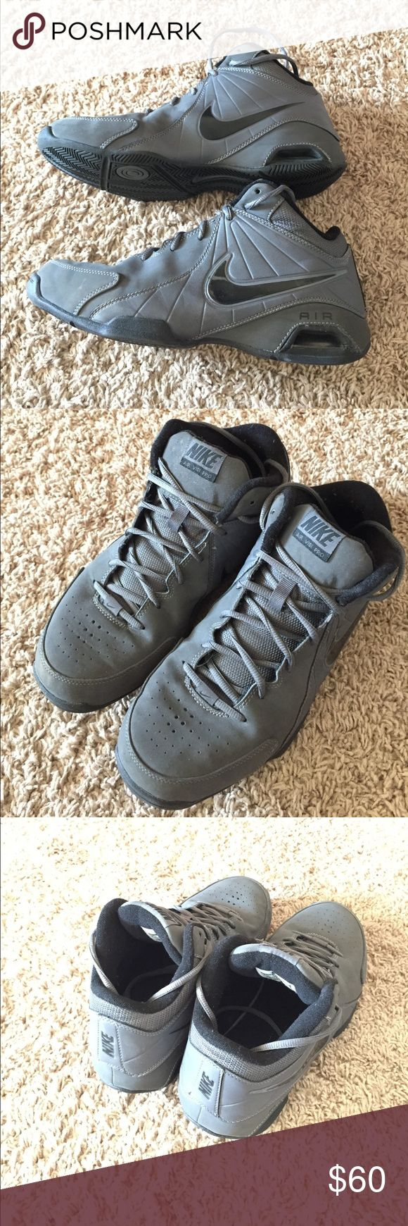 Nike basketball shoes Nike Air Visi Pro basketball shoes. These shoes are lightly worn, in excellent condition. As you can see no wear on the soles, and minimal wear on the tips. I'm parting with these because I don't play anymore. Nike Shoes Athletic Shoes