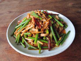 旨辛!豚とニンニクの芽のスタミナ中華炒め