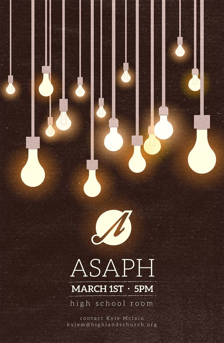 Asaph Ministry Poster   Vintage hipster light bulb poster #church #worship #poster