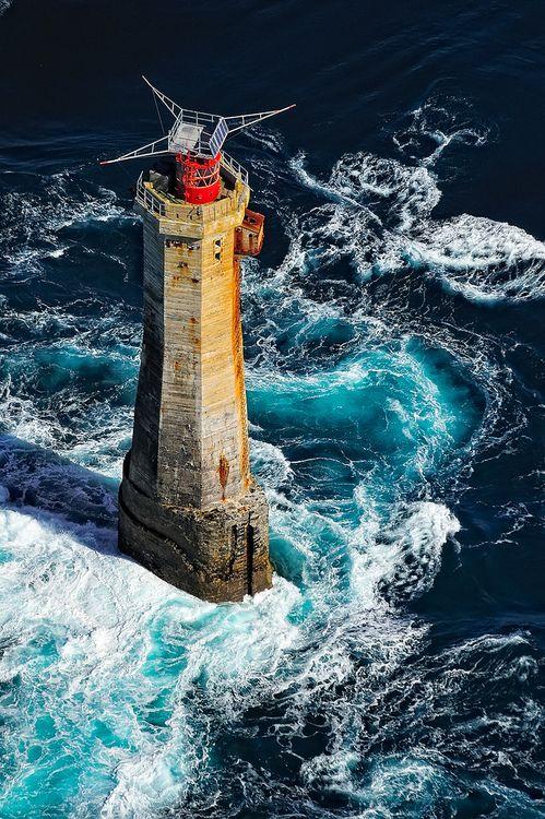 Lighthouses of Iroise.  Phare du Nividic,  Finistere  -  Brittany