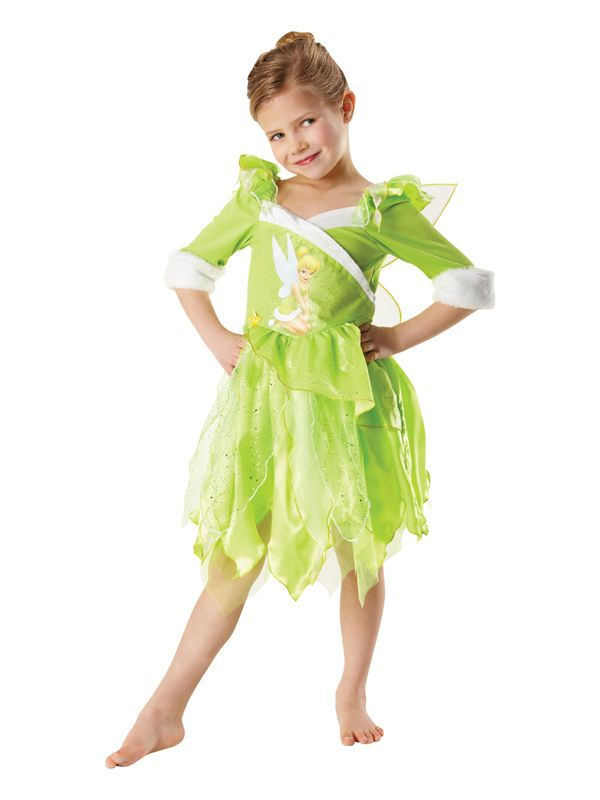 Child Girls Licensed Disney Winter Wonderland Tinkerbell Fancy Dress Costume in Clothes, Shoes & Accessories, Fancy Dress & Period Costume, Fancy Dress | eBay