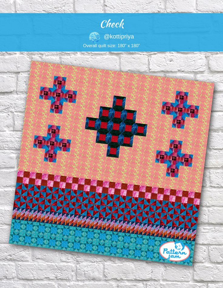 playing checkers quilt pattern - 736×952