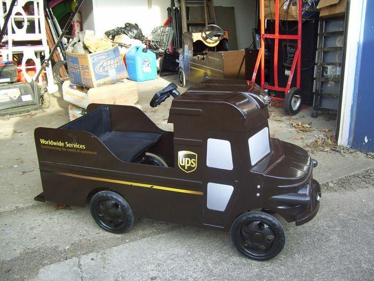 Pedal Car: United Parcel Service Pedal Car Truck.