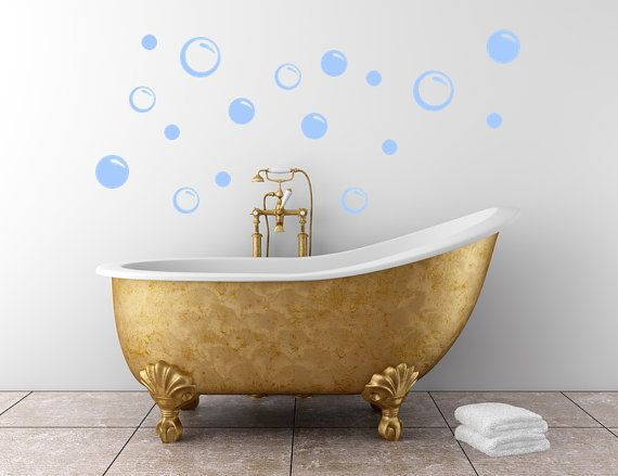 Vinyl Decals Vinyl Decal  Soap Bubbles Bathroom Wall Decal Removable On Etsy