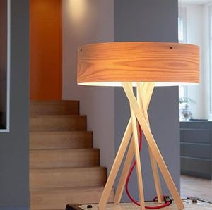 design wooden table lamp (tripod) ARBA by Matteo Thun & Antonio Rodriguez BELUX AG