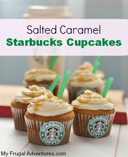 Salted Caramel Starbucks Cupcakes Recipe- so easy and very fun for parties! This recipe makes an amazing cupcake!