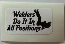 WELDER DO IT SEXY Hard Hat Sticker Decal Label Vinyl Truck Car NEW Full Color