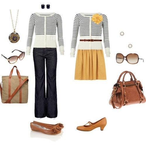 cute outfits!: Idea, Cardigan, Dress, Cute Outfits, Style Pinboard, Work Outfit, Closet