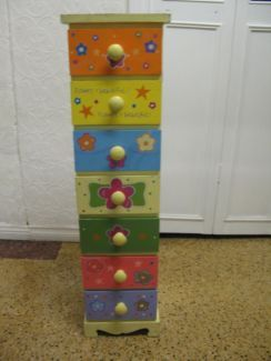 $35.00 SMALL MINI 7 DRAWERS Tower Adorable Colourful Children's Storage