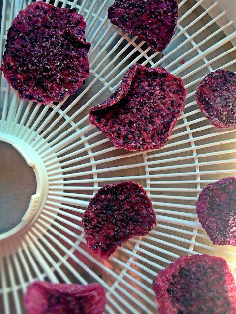 Passionately Raw! - Red Dragon Fruit Chips #rawfood #dehydrator