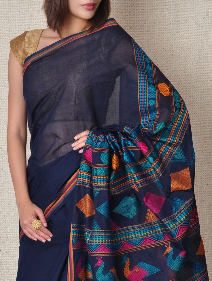 Yale Kanchi-Cotton Saree - Tribal on Jaypore.com