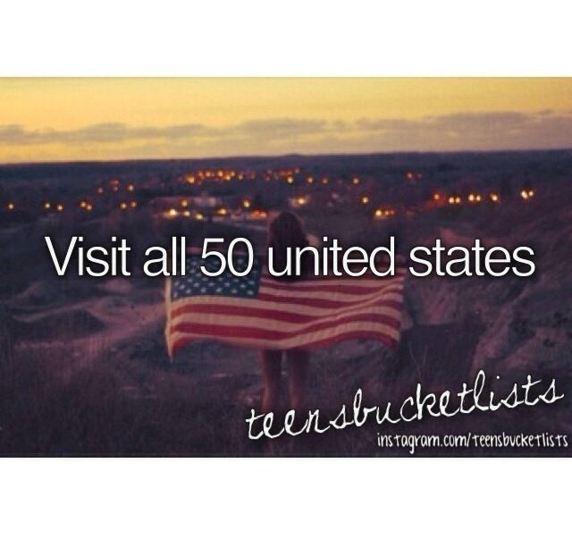 Bucket list ❤  so far i got:  arizona  california  new mexico  colorado  utah  montana  florida  42 to go.