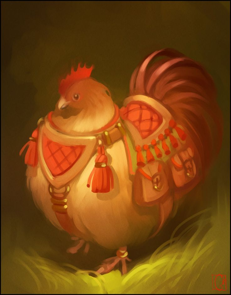 Hen by GaudiBuendia gnome pixie sprite brownie riding chicken mount monster beast creature animal | Create your own roleplaying game material w/ RPG Bard: www.rpgbard.com | Writing inspiration for Dungeons and Dragons DND D&D Pathfinder PFRPG Warhammer 40k Star Wars Shadowrun Call of Cthulhu Lord of the Rings LoTR + d20 fantasy science fiction scifi horror design | Not Trusty Sword art: click artwork for source