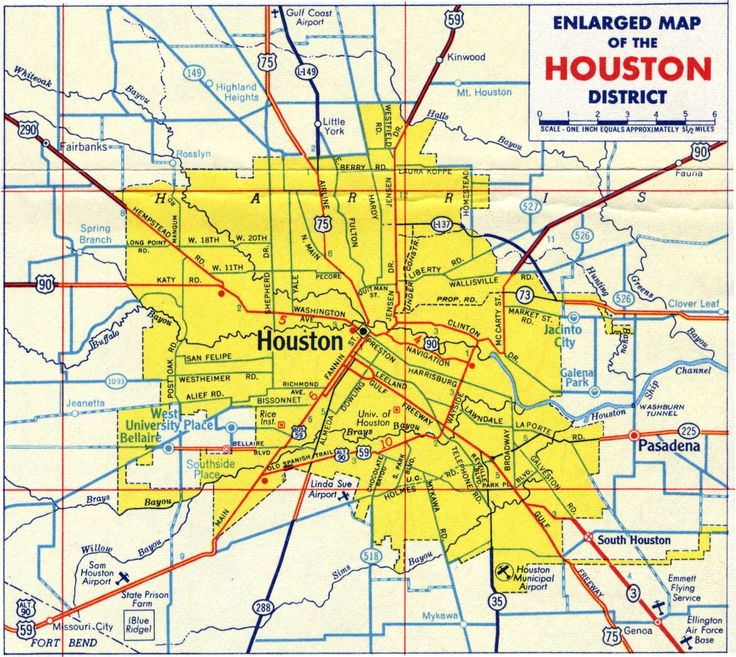 Agile image with printable map of houston